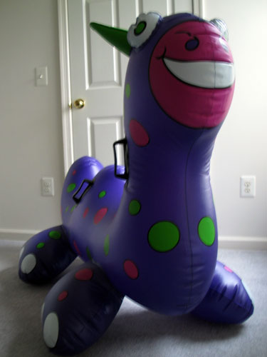 xydexx's huge purple inflatable sea monster